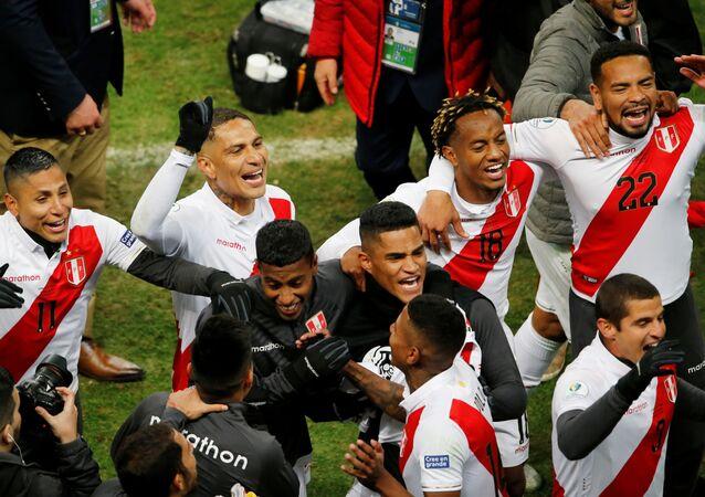 Parte de la selección de Perú en la Copa América 2019 en Río de Janeiro, Brasil