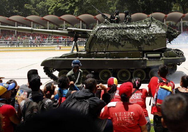 Celebración del 208 aniversario de independencia en Venezuela