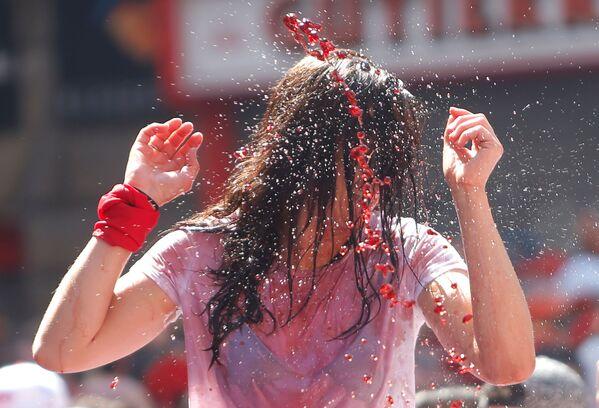 El 'chupinazo' da inicio a la fiesta de San Fermín - Sputnik Mundo