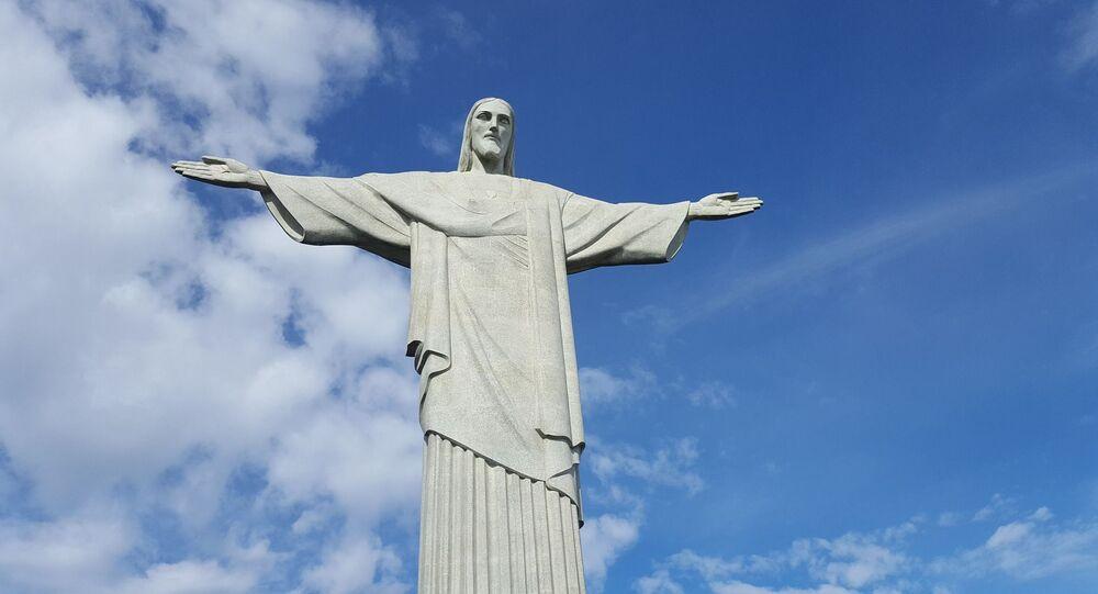 La estatua del Cristo Redentor, Río de Janeiro, Brasil