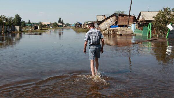Inundaciones en Irkutsk, Rusia - Sputnik Mundo