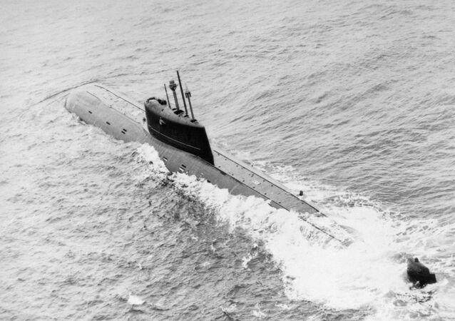 El submarino Komsomolets en 1986