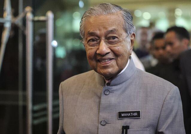 El primer ministro de Malasia, Mahathir Mohamad