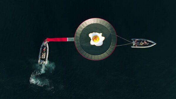 La acción de Greenpeace contra el calentamiento global - Sputnik Mundo