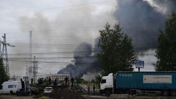 Incendio en una planta termoeléctrica en Moscú  - Sputnik Mundo