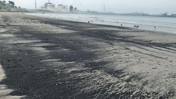 Varamietnos de carbón en la Bahía de Quintero, Chile - Sputnik Mundo