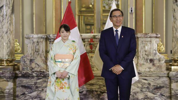 Presidente Martín Vizcarra recibe en palacio de gobierno a princesa Mako de Japón - Sputnik Mundo