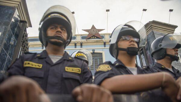 Los policías de Perú - Sputnik Mundo