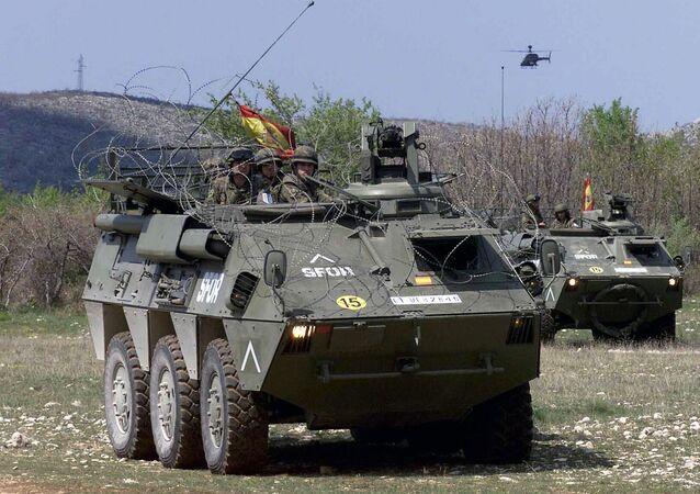 Un vehículo blindado (imagen referencial)