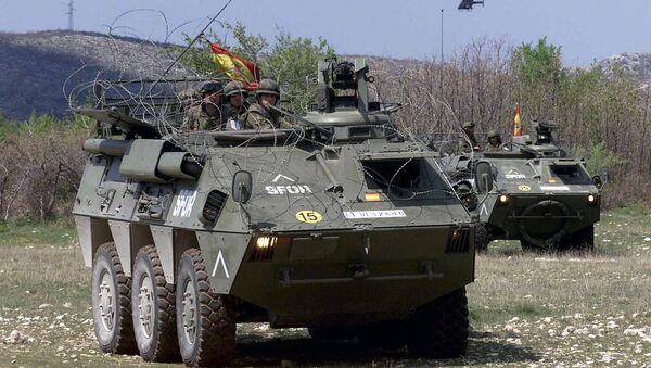 Un vehículo blindado (imagen referencial) - Sputnik Mundo