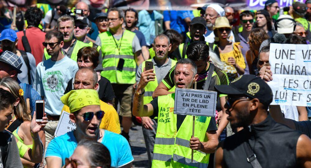 Las protestas de los 'chalecos amarillos' en París, Francia