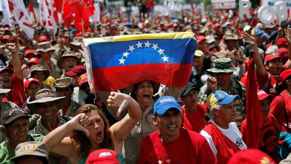 Protestas contra el informe de Bachelet en Caracas (Venezuela), el 13 de julio de 2019 - Sputnik Mundo