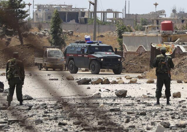 Vehículo de la Policía militar rusa en Siria (archivo)