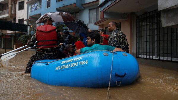 Inundaciones en Nepal - Sputnik Mundo