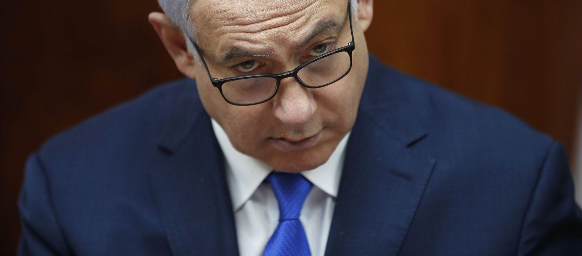 El primer ministro israelí Benjamín Netanyahu  - Sputnik Mundo, 1920, 08.02.2021