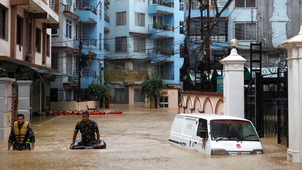 Inundaciones en Katmandú, Nepal - Sputnik Mundo