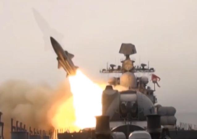 La Flota rusa del Pacífico pone sus misiles supersónicos a prueba
