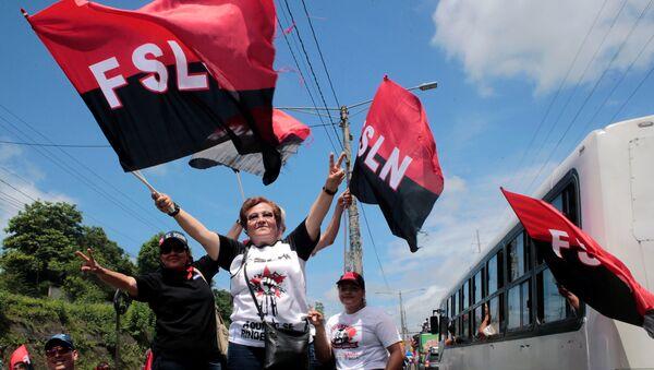 Simpatizantes del Frente Sandinista de Liberación Nacional (FSLN) - Sputnik Mundo