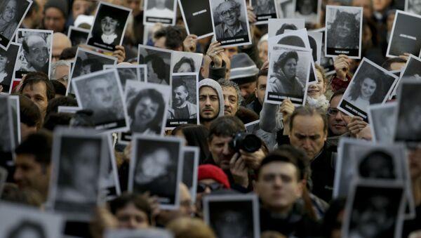 Las fotos de las víctimas del atentado a la AMIA en Argentna (archivo) - Sputnik Mundo