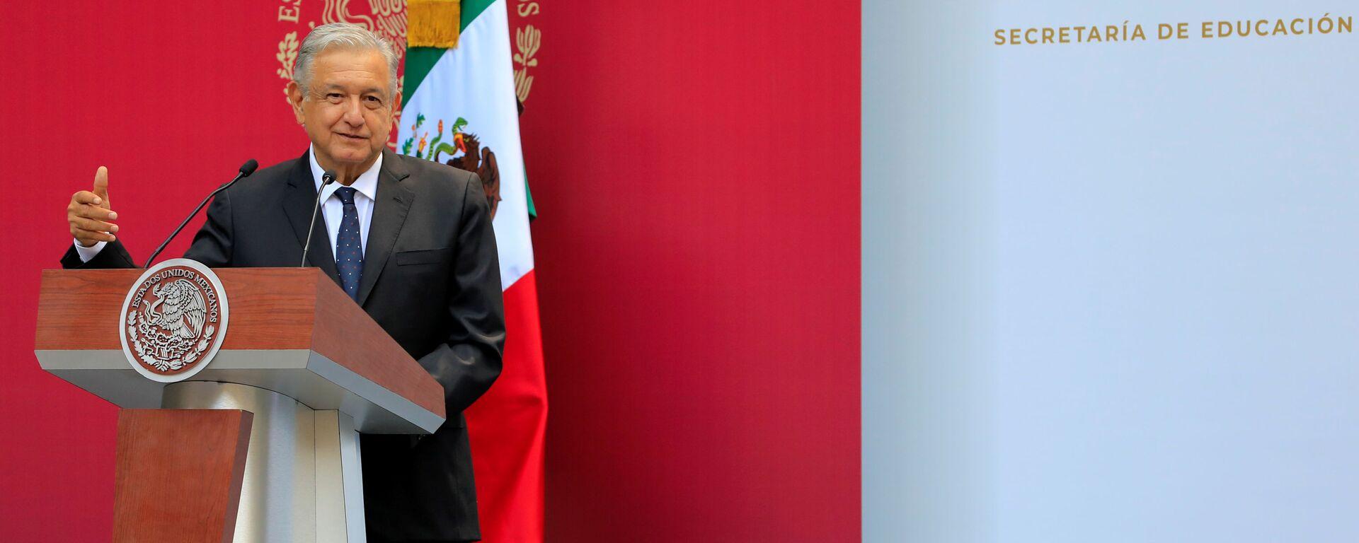 Andrés Manuel López Obrador, presidente de México - Sputnik Mundo, 1920, 18.07.2019