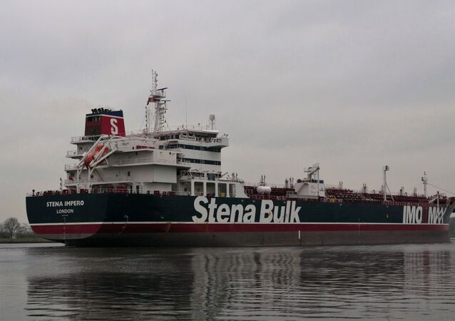 El buque británico Stena Impero