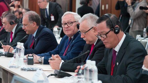 Serguéi Riabkov, viceministro de Exteriores ruso en la reunión de países amigos en defensa de la Carta de la ONU   - Sputnik Mundo