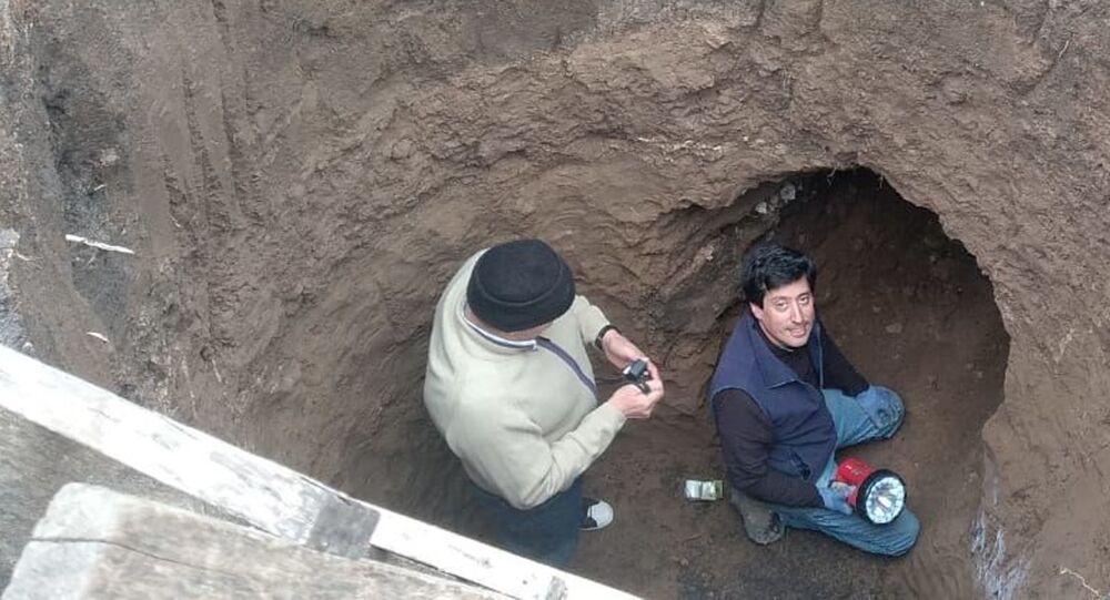Cueva prehistórica hallada en la localidad de Batán en Buenos Aires