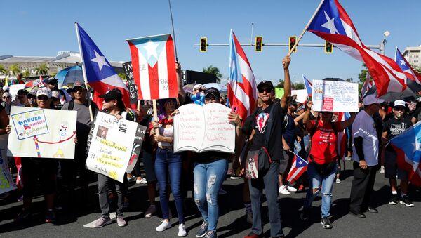 Protestas en San Juan, Puerto Rico - Sputnik Mundo