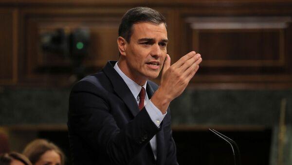 Pedro Sánchez, líder del Partido Socialista Obrero Español (PSOE) y candidato a la presidencia del Gobierno - Sputnik Mundo