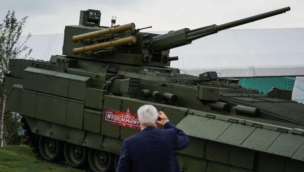 Vehículo de infantería T-15 de la plataforma Armata  - Sputnik Mundo