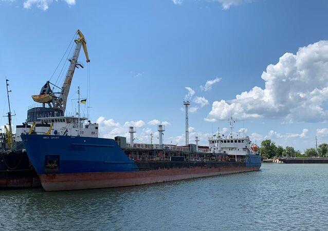 El petrolero ruso NEYMA, detenido por el Servicio de Seguridad de Ucrania