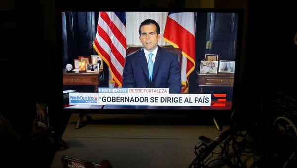 La renuncia del gobernador puertorriqueño Ricardo Rosselló - Sputnik Mundo