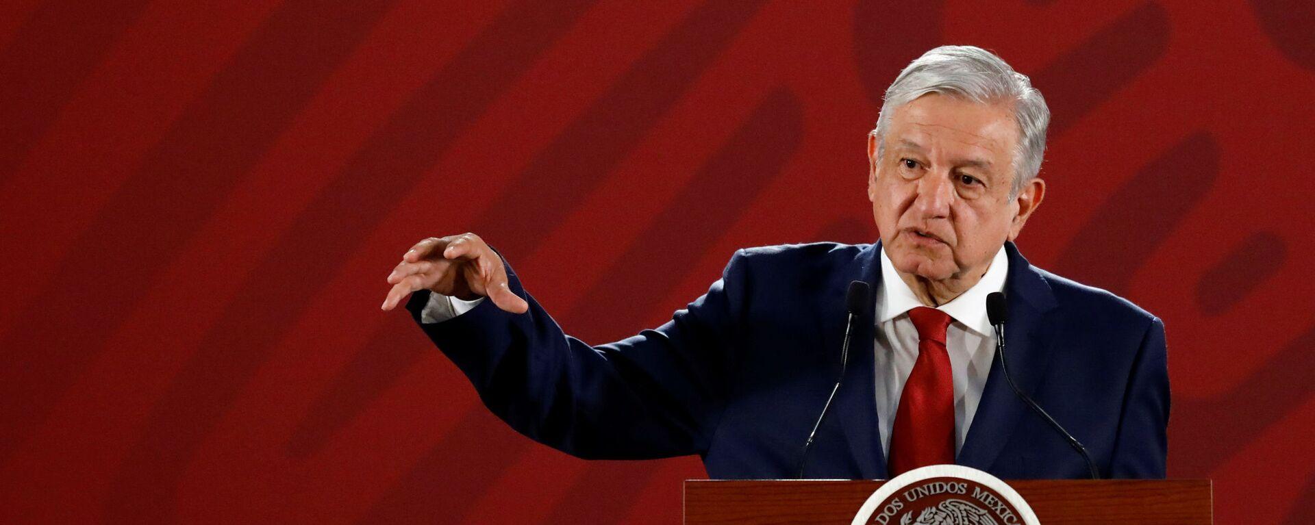 Andrés Manuel López Obrador, presidente de México - Sputnik Mundo, 1920, 25.07.2019