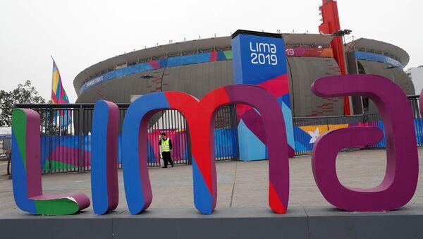 Vista exterior del Estadio Nacional de Lima, una de las sedes de los Juegos Panamericanos de Lima 2019 - Sputnik Mundo
