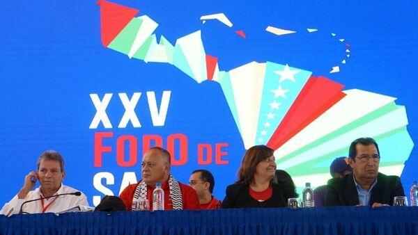 Diosdado Cabello, presidente de la ANC de Venezuela, en la reunión del XXV Foro de Sao Paulo en Caracas, Venezuela - Sputnik Mundo