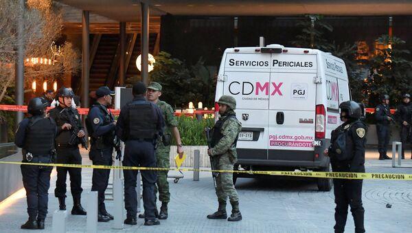 El lugar del asesinato de dos israelíes en Ciudad de México - Sputnik Mundo