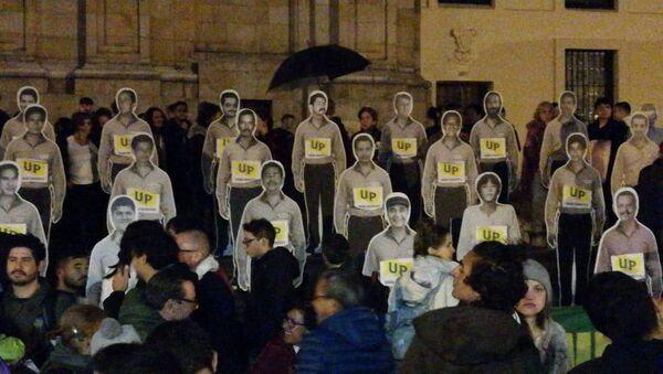 Protesta en Bogotá por los asesinatos de los líderes sociales en Colombia - Sputnik Mundo
