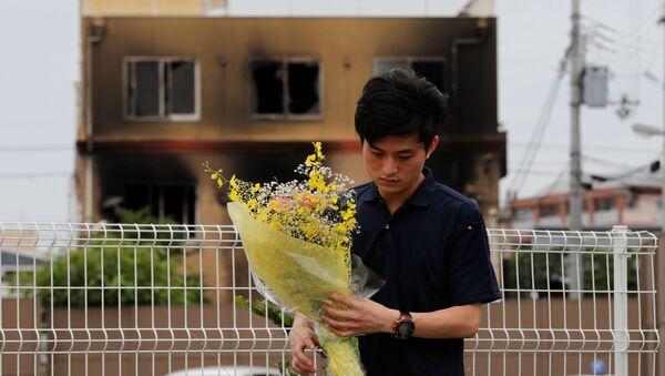 Homenaje a las víctimas del incendio en el estudio Kyoto Animation - Sputnik Mundo