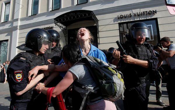 Protestas en Moscú del 27 de julio de 2019 - Sputnik Mundo