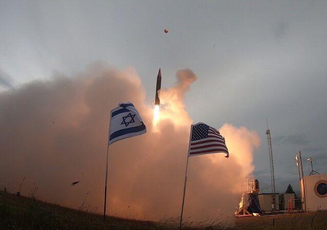 Pruebas del misil israelí Arrow 3