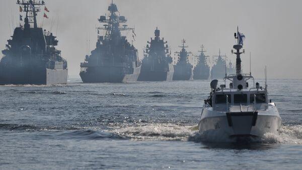Los buques de guerra rusos (archivo) - Sputnik Mundo