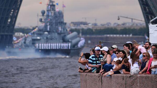 La Armada rusa se luce en su día - Sputnik Mundo