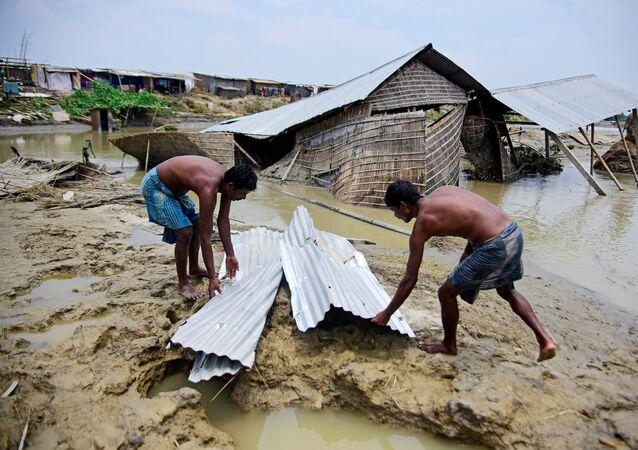 Inundaciones en Assam, la India
