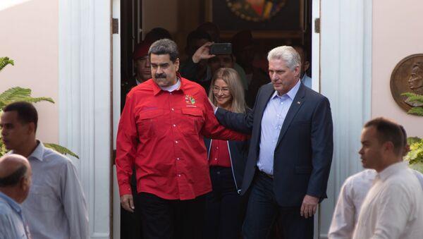 Nicolás Maduro, presidente de Venezuela, y Miguel Díaz-Canel, presidente de Cuba - Sputnik Mundo
