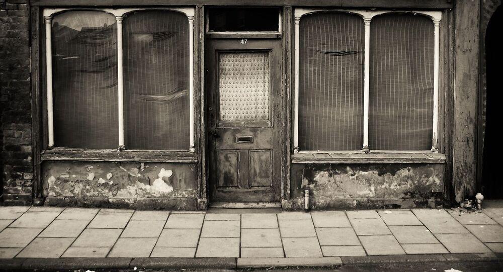 Una tienda abandonada