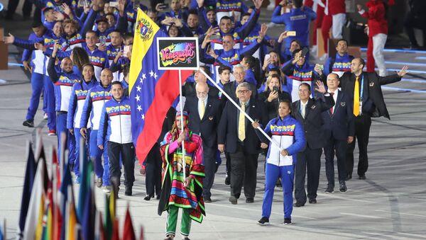 Delegación venezolana en los Juegos Panamericanos de Lima - Sputnik Mundo