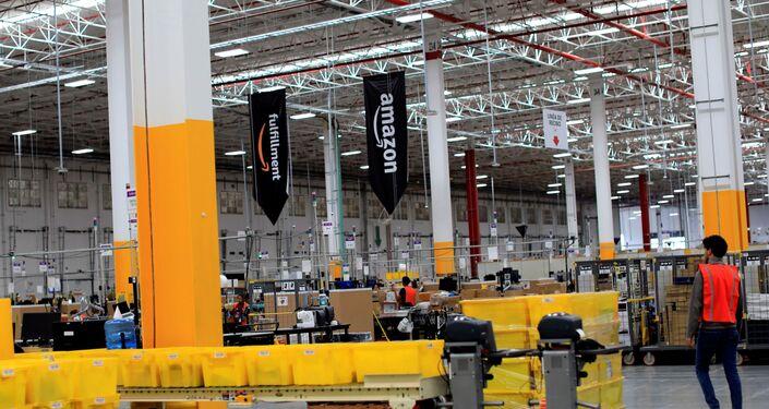 El centro de distribución de Amazon en el Estado de México