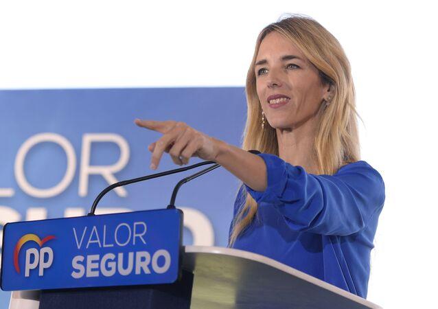Cayetana Álvarez de Toledo, la portavoz del PP en el Congreso, el 8 de abril del 2019