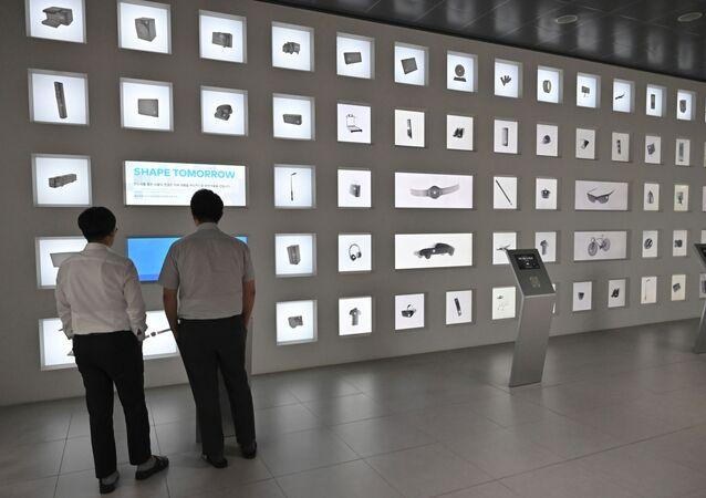 Muestras de los equipos electronicos de la empresa surcoreana Samsung