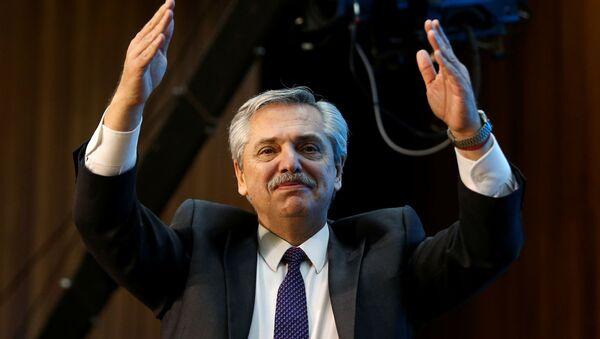 Alberto Fernández, candidato a la presidencia de Argentina por el Frente de Todos - Sputnik Mundo
